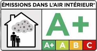 Label A+ des émissions dans l'air intérieur.